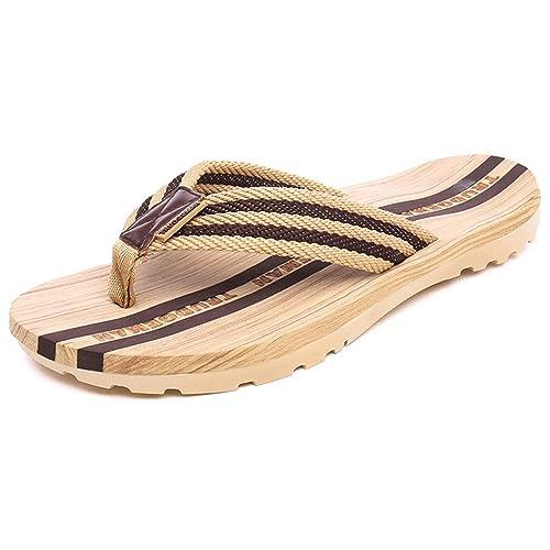 5831bdea7aa5 Eagsouni Mens Womens Striped Non-Slip Flip Flops Sandals Summer Beach  Shower Casual Slippers Walking