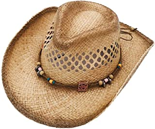 YXSDD Cowboy Hat Straw Hat, Summer Wide Eaves Sun Hat Outdoor Working Sun Hat Sun Protection UV Protection Beach Cap