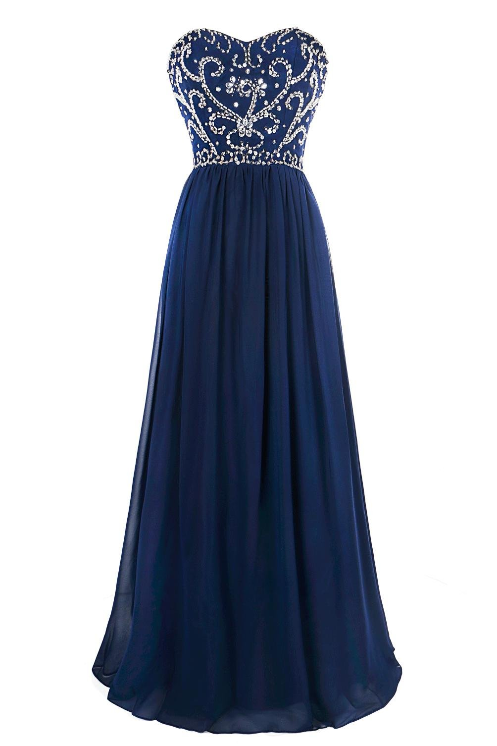 Available at Amazon: MsJune Prom Dresses A Line Sweetheart Lace Up Back Floor Length Evening Dress