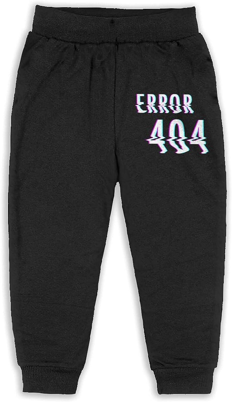 Maoyouuxian Error 404 Babies Toddler BoysCotton Jogger Pants 2t-6 (5-6 Years)