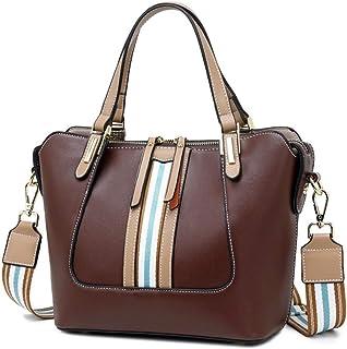 Napa grain cowhide leather handbag European and American style wild portable shoulder messenger bag. jszzz