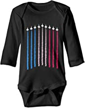 Red White Blue Air Force Flyover Baby Romper Long Sleeve Cozy Novelty Funny Onesie Gift for Newborn