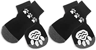 BINGPET Anti Slip Dog Socks for Hardwood Floors, Pet Paw Protectors with Grips