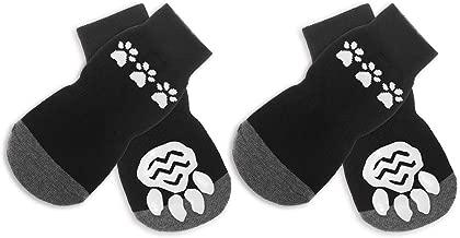 BINGPET Anti Slip Dog Socks for Hardwood Floors, Pet Paw Protectors with Grips