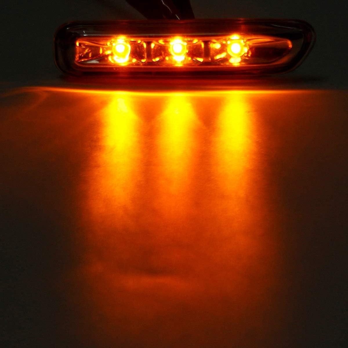 Gaoominy pour S/éRie 3 E46 316I 318I 325I X3 E83 E90 4D//2D 1999-2003 Indicateur de Virage Feu de Gabarit Lat/éRal Clignotant Noir