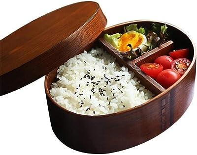 SYMJP 日本の伝統的なスタイルの食事準備コンテナ弁当箱Bentoboxエコフレンドリー漏れ防止のランチボックスコンテナとコンパートメント (Color : Oval)