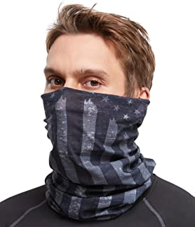 Neck Gaiter Face Mask - Reusable & Washable Cloth Face Cover, Bandana, Shield & Scarf for UV, Sun & Dust Protection - Outdoor Head Wrap for Fishing, Motorcycle Riding, Construction, Hunting & Running