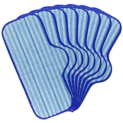 Kuinayouyi 8 Packungen waschbare Ersatz-Mikrofaser-Dampfreiniger-Pads, geeignet für Dupray ordentlich waschbare Matten.