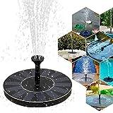 Mture Solar Springbrunnen, Solar Teichpumpe Outdoor Solar Pumpe mit 1.4W Monokristallinem Solar Wasserpumpe Fontäne Pumpe für Gartenteiche, Fisch-Behälter, Vogel-Bad und Kleiner Teich