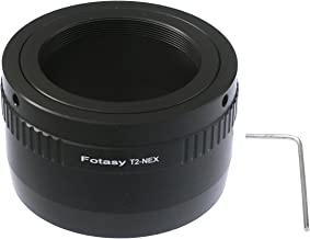 Fotasy T Mount Lens to Sony E-Mount Adapter, T2 E Mount Adapter, Emount T Mount Telescope Adapter, fits Sony NEX-5T NEX-6 NEX-7 a3000 a3500 a5000 a5100 a6000 a6100 a6300 a6400 a6400 a6500 a6600