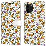 Lex Altern Custodia per Apple iPhone 12 11 PRO Max SE XS XR 8 7 Plus 6 + Portafoglio Cibo Spazzatura Pizza Patatine Fritte Porta Carte Carina Magnetica Pelle Spazio Cover Casa Protettiva w0258
