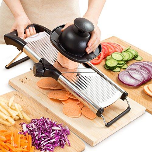 Mandoline Slicer - Vegetable, Potato, Tomato & Onion Cutter Mandolin - Best Kitchen Accessories