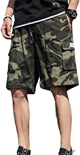 Men Outdoor Lightweight Quick Dry Hiking Casual Cargo Shorts with Multi Pocket