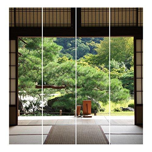 Bilderwelten Cortinas deslizables set - Dojo In Harmony - 4 Paneles japoneses, cortina de panel deslizante panel cortina incl. sistema de montaje, Sistema de montaje: Montaje para techo, Tamaño: 250 x 240cm (4 paneles de 250 x 60cm)
