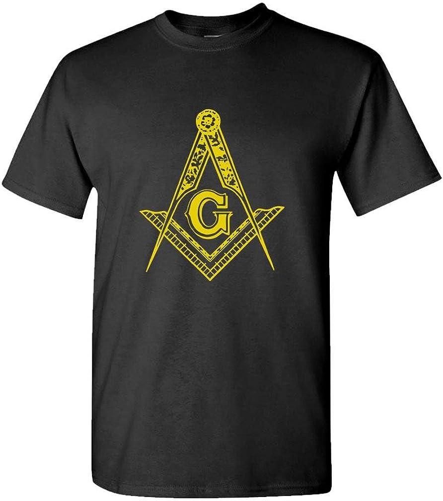 Freemason Logo Illuminati Conspiracy - Mens Cotton T-Shirt