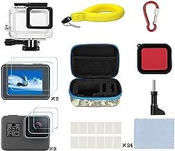 Kitspeed Accessories Kit for GoPro Hero 7 Black/(2018)/6/5, Including Waterproof case,Red Filter,Tempered Glass Film,Waterproof Camera Float,Anti-Fog Inserts, Shockproof Storage Bag