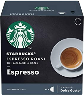 5 PACK NESCAFÉ (Starbuck Version) Espresso Dark Roast - Single Cup - Coffee For Keurig Brewers – Dark Roast – 100% Arabica – Sweet Aroma - Rich And Caramelly notes – 60 Capsules - Spain