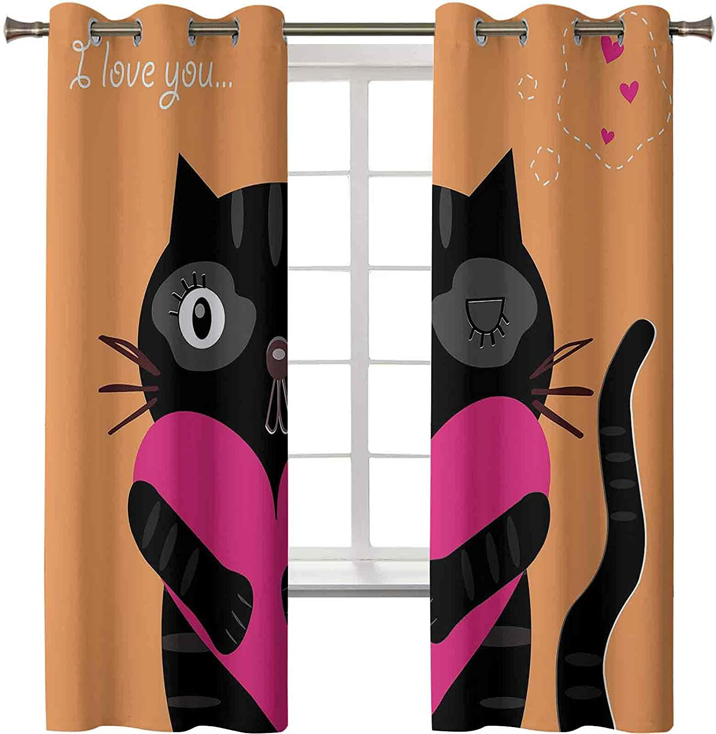 Thermal Insulating Blackout Curtain Kitty Lov I Heart Holding Purchase A Colorado Springs Mall