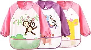 Lictin Babyl/ätzchen Baby L/ätzchen Weiches L/ätzchen Wasserdichtes L/ätzchen aus Bauwolle mit Klettverschluss f/ür Jungen und M/ädchen 3-30 Monaten 12pcs