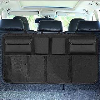 FuTaiKang Universal Auto Organizer Kofferraum Rücksitz Aufbewahrungstasche Mesh Net Tasche (Schwarz)