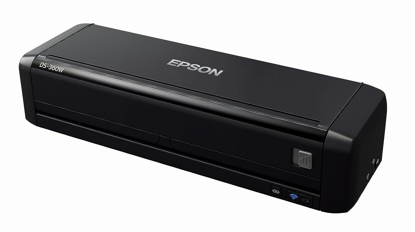 経験幸福ジョージバーナードEPSON スキャナー DS-360W (シートフィード/A4両面/Wi-Fi対応 コードレス)
