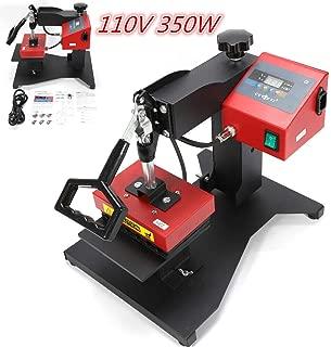 HYYKJ 6 in 1 Digital Pen Heat Press Machine 110V 350W Plastic Ballpoint Pen 3D Sublimation Transfer Logo DIY Printing Machine Swing Away
