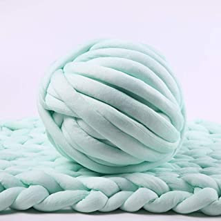 Bulky Yarn,Super Chunky Yarn Washable Roving for Arm Knitting Extreme Knitting (Light Green)