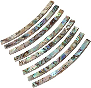 Yibuy 8pcs Guitar Rosette Abalone Curved Strips Sound Hole Circle Inlay 115x3x1.5mm