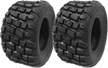 SET OF TWO: ATV Tubeless Type Tires Size 20x10-9 (P143) for lower cc'd to mid-size ATVs or horse powered motors