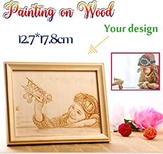 Custom Engraved Plaque Laser Engraving Wood Painting Personalized Laser woodcarving Picture Frame Home Decoration Valentine's Day for Girlfriend Boyfriend Engraving on Wood
