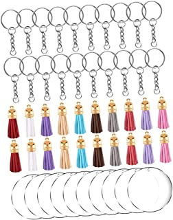BESPORTBLE 90pcs in 3 Set Acrylic Keychain Kit Clear Keychains for Vinyl Kit Exquisite Key Ornaments Set DIY Keyring Acces...