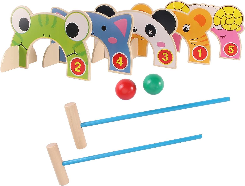 balacoo 1 Set Cartoon Croquet Golf Game Toy Plastic Golf Clubs T
