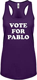Indica Plateau Womens Vote for Pablo Racerback Tank Top
