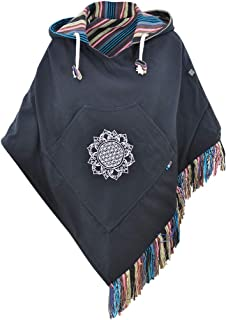 – Poncho Ladies Hippie Jacket Alternative Clothing Baja Poncho Hooded Poncho Ethnic Clothing – Relaxed
