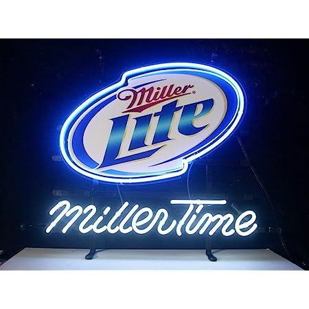 "New Miller Lite Real Glass Neon Light Sign Home Beer Bar Pub Sign 17/""x14/"""