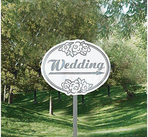 Wedding Yard Sign Kit - (6) Signs, (12) Ribbons, (18) Balloons, (6) Stakes