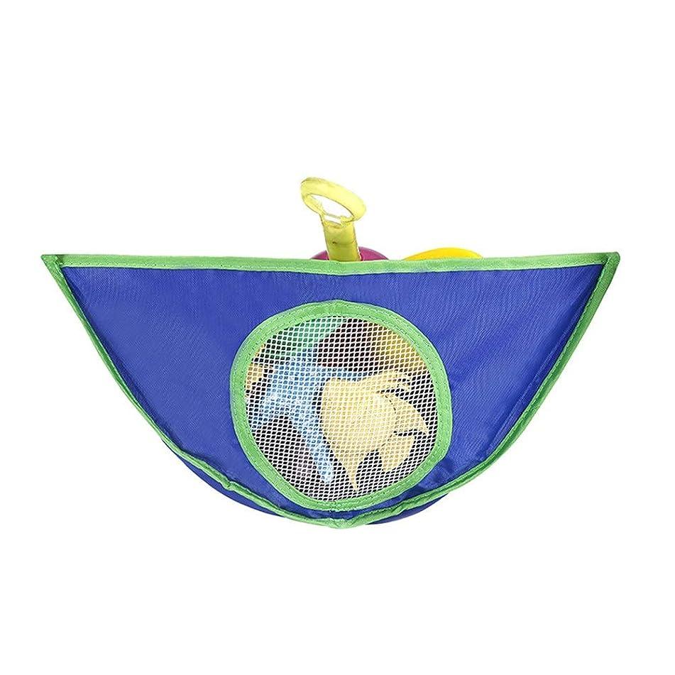 北方有名ロードされたLYgMV 家庭用浴室吊りバッグ、子供のおもちゃ収納吊りバッグ、防水、オックスフォード布おもちゃ吊りバッグ (Color : ブルー)