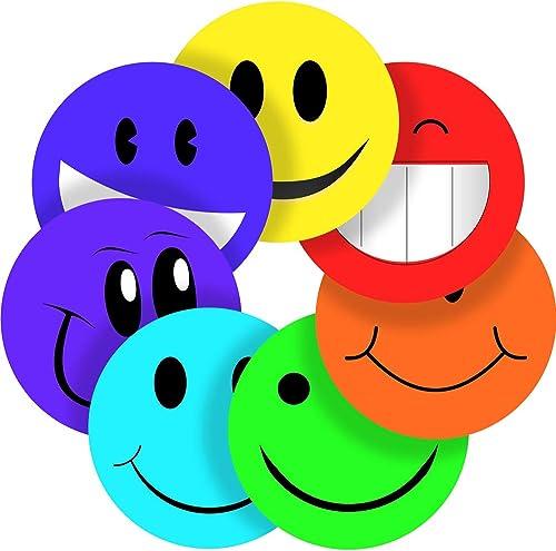 Smiley MultiFarbe Belohnung Aufkleber Etiketten, 70 fkleber @ 2,5cm Zoll, Hochglanz-Qualität, ideal für Kinder Eltern Lehrer Schulen  te Krankenschwestern Optiker, 70 Stückers @ 1  inch
