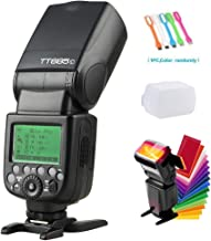 Godox TT685C TTL 2.4GHz GN60 High Speed Sync 1/8000s Camera Flash Speedlite Light Compatible for Canon Cameras with Diffuser & Filter &USB LED