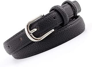 SGJFZD Women's Fashionable Belts Students' Cuts Trendy Belts Women's Belts (Color : Black, Size : 105 * 1.8cm)
