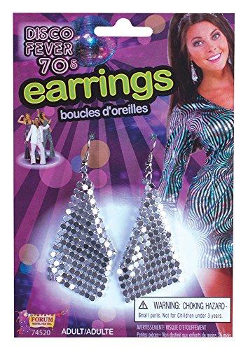 Bristol Novelty 74520 Boucles d'oreilles diamant Argenté Taille unique