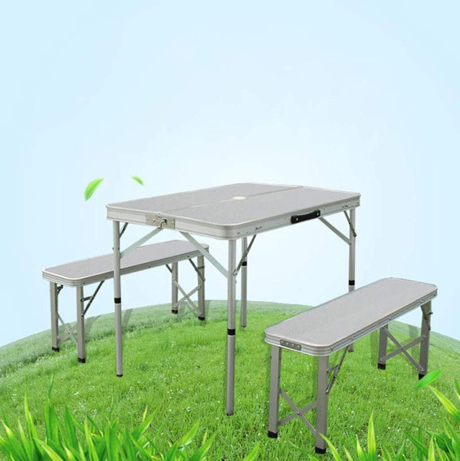 Portable Outdoor Folding Table and Chairs Barbecue Table and Chairs Aluminum Folding Table Split Table