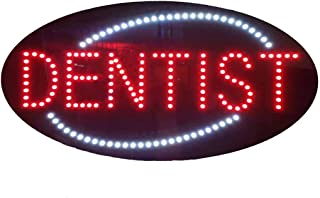 LED Dentist Open Light Sign Super Bright Electric Advertising Display Board for Dental Care Clinic Cosmetic Dentistry DDS Business Shop Store Window Bedroom 27 x 15 inches