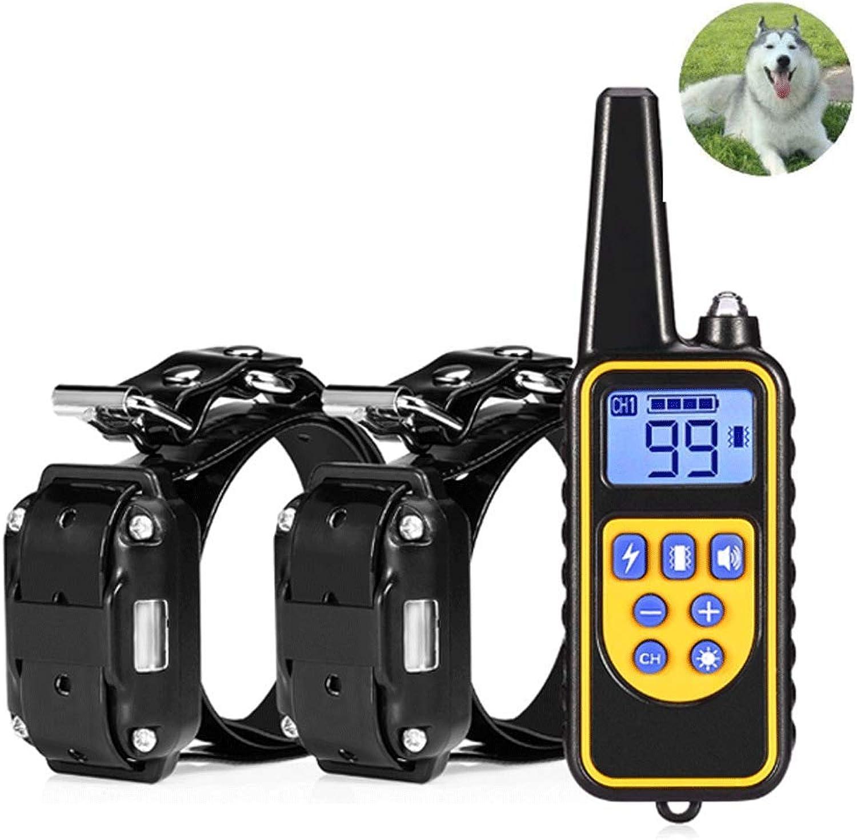 Anti Bark Dog Collar, Waterproof Rechargeable Electric Dog Training Device Remote AntiBarking Device Dog Collar Pet Supplies,Blackorange