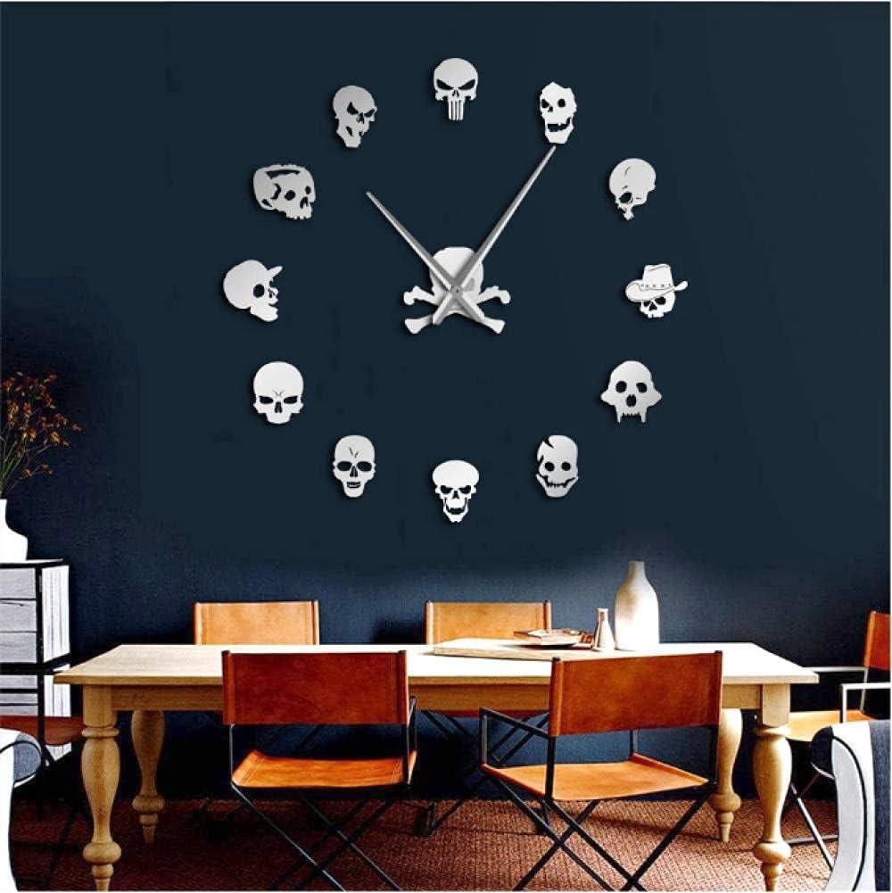 Different Skull Heads DIY Popular standard Horror Wall Clock Giant N Art Big 25% OFF