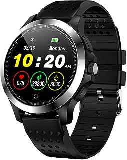 SAHWIN® Pulsera Fitness, Reloj Inteligente Impermeable IP67 con Monitor De Sueño Pulsómetro Podómetro, Caloría GPS para Deporte, Reloj Inteligente Mujer Niños,Black TPU Strap
