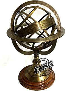 Vintage Compass Armillary Globe Celestial Astronomical Clock Sphere Desk/Table Decor Gift for Father/Mother/Teachers