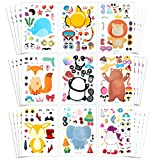Make a Face Sticker Sheets, Make Your Own Animal Mix and Match Sticker for Kids. 36 PCS as Gift of Festival, Reward, Birthday, Party Favor, Art Craft,kids party favors