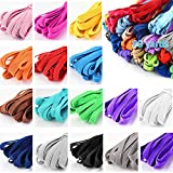 Color Elastic Bands for Sewing, 1/4 Inch Elastic String for Masks, 16 Colored Elastic for Sewing Masks, Hair Bands, Shorts Waist, Shoe Laces, Wigs, Bracelets, Crafts DIY Projects(16 Colors 80 Yard)