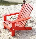 DanDiBo Strandstuhl aus Holz Rot Gartenstuhl klappbar Adirondack Chair Sonnenstuhl